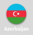 azerbaijan flag round icon vector image vector image