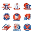 baseball emblems set vector image