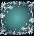 beautiful winter frame made of snowflakes vector image