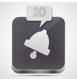 Bell app icon vector image