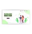 black lives matter multiracial girls standing vector image