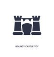 bouncy castle toy icon on white background simple vector image vector image