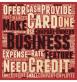 Business Credit Cards Guide text background vector image vector image