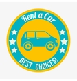 Buy or rent a car business vector image vector image