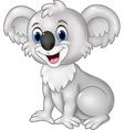 Cartoon funny koala sitting isolated vector image vector image