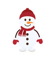 cartoon snowman merry christmas character vector image vector image