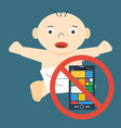 child and ban on mobile vector image