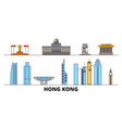 china hong kong city flat landmarks vector image vector image