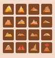 collection of mountain icons in flat style vector image vector image