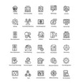 collection web and seo line icons vector image vector image