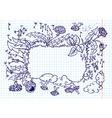 dandelion frame vector image