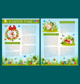 easter egg hunt celebration brochure template vector image vector image