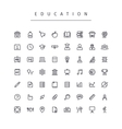 Education Stroke Icons Set vector image vector image