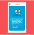 emoji in hands mobile vertical banner design vector image