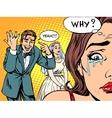 Envy man woman wedding love vector image