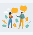 family members talk each other vector image vector image
