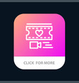 film heart love wedding mobile app button android vector image vector image