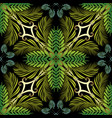 floral green tropic palm seamless pattern vector image vector image