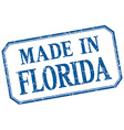 Florida - made in blue vintage isolated label vector image vector image