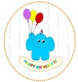 Flying birthday elephant vector image vector image