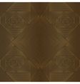 Geometric brown seamless pattern vector image