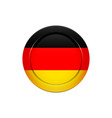 german flag on the round button vector image vector image