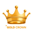 Gold crown king design royal icon