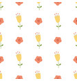 hand drawn yellow flowers seamless pattern cute vector image