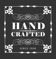 HANDCRAFTED decorative frame label vector image vector image