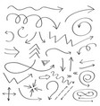 handdrawn doodle arrows icon hand drawn black vector image vector image