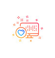 heart line icon favorite like sign vector image vector image