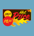 hot price flaming labels stickers banners vector image vector image