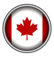 isolated canadian badge vector image