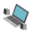 laptop computer with speakers vector image vector image