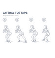 lateral toe taps with resistance band girl home vector image vector image