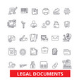 legal documents archive deed record papers vector image