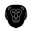 lion head icon sign o vector image vector image