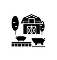 livestock black icon sign on isolated vector image