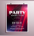 nightclub party flyer template design with event vector image