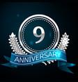 nine years anniversary celebration design vector image
