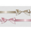 pastel ribbons set vector image vector image