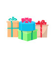presents packed in gift boxes isolated icon vector image