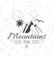 Print on t shirt design theme of the mountains vector image vector image