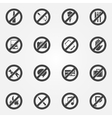 Prohibited or restriction symbols set vector image
