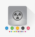 radiation symbol icon sign symbol app in gray vector image vector image