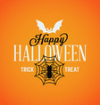 Retro Happy Halloween Badge Sticker Label Design vector image vector image