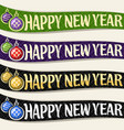 ribbons for new year vector image vector image