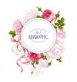 romantic garden round banner vector image vector image