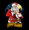 santa claus at christmas love party vector image vector image
