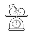 scale with baby isolated icon vector image